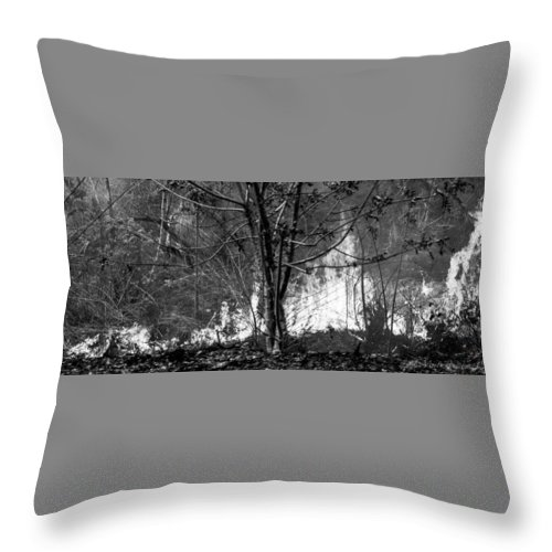 Costa Rica Throw Pillow featuring the photograph Infrared Flames In Costa Rica by Misty Tienken