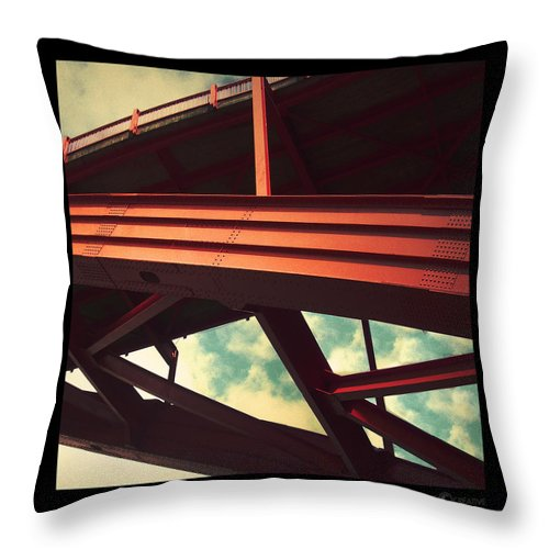 Bridge Throw Pillow featuring the photograph Infrastructure by Tim Nyberg