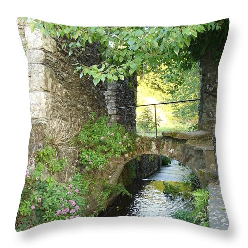 Inistioge Throw Pillow featuring the photograph Inistioge by Kelly Mezzapelle