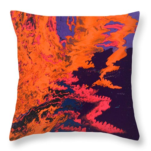 Fusionart Throw Pillow featuring the painting Initiative by Ralph White