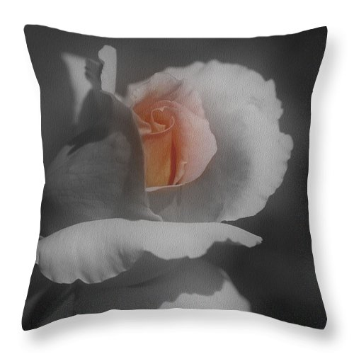 Rose Throw Pillow featuring the photograph Inner Beauty by Smilin Eyes Treasures