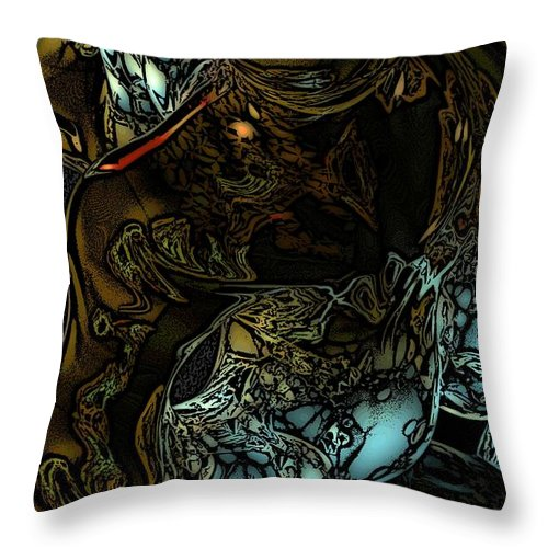 Abstract Throw Pillow featuring the digital art Inner Being by David Lane
