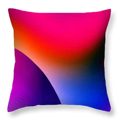 Color Throw Pillow featuring the painting Inner Cosmos 2 Red I Contemporary Digital Art by G Linsenmayer