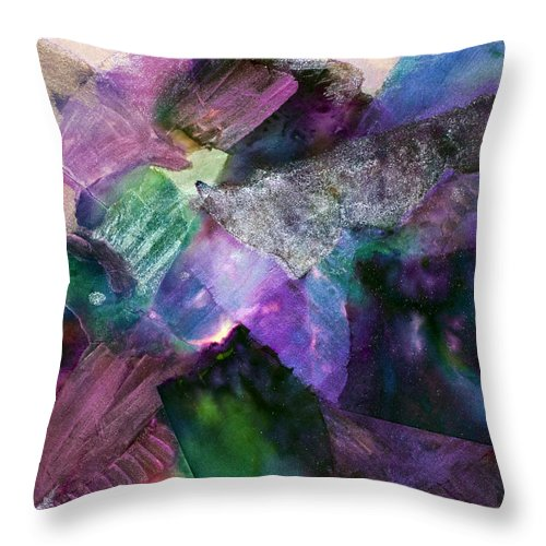 Inner Light Throw Pillow featuring the painting Inner Light by Don Wright