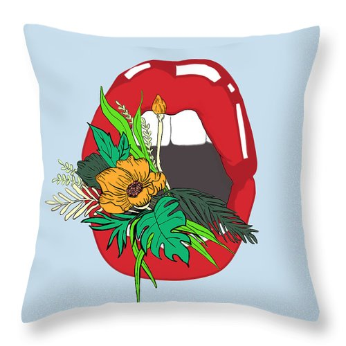 Floral Throw Pillow featuring the digital art Inner Oasis by Brittany Everette
