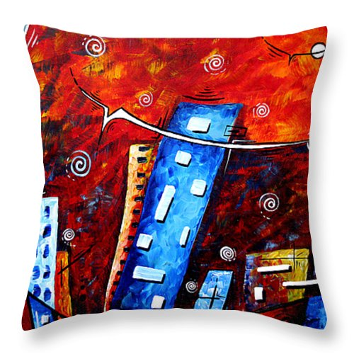 Original Throw Pillow featuring the painting Inner Sanctuary By Madart by Megan Duncanson