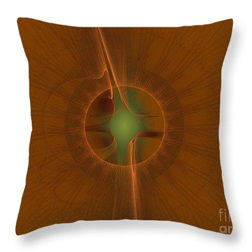 Digital Throw Pillow featuring the digital art Inner Sanctum by Deborah Benoit