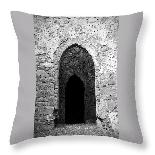 Ireland Throw Pillow featuring the photograph Inner Sanctum Fuerty Church Roscommon Ireland by Teresa Mucha