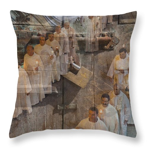 Church Throw Pillow featuring the photograph Inner Sanctum by Robert Lacy