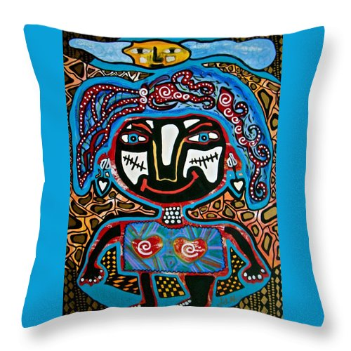 Naive Art Throw Pillow featuring the mixed media Innocence by Alice Schwager