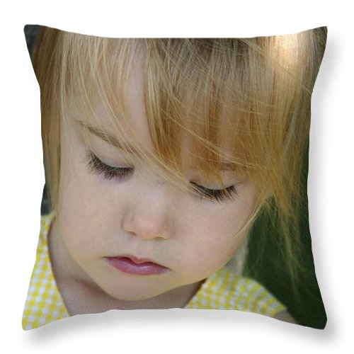Angelic Throw Pillow featuring the photograph Innocence II by Margie Wildblood