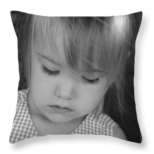 Angelic Throw Pillow featuring the photograph Innocence by Margie Wildblood