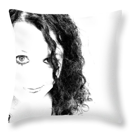 Portrait Throw Pillow featuring the photograph Innocence by Meghann Brunney