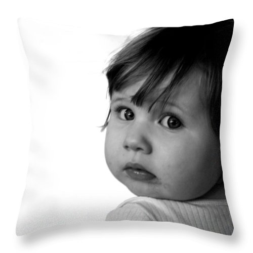 Child Throw Pillow featuring the photograph Innocence by Rick De Wolfe