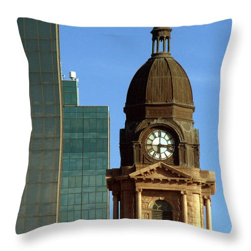 Structure Throw Pillow featuring the photograph Innovation by Elizabeth Hart