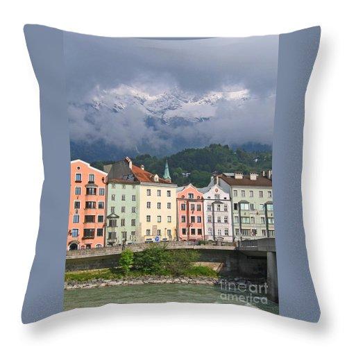 Innsbruck Throw Pillow featuring the photograph Innsbruck by Ann Horn