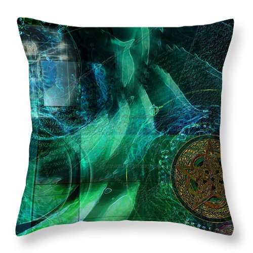 Digital Abstract Art Throw Pillow featuring the digital art inPhinity by Kenneth Armand Johnson