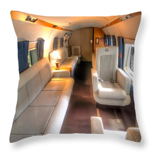 Inside Marine One Throw Pillow For Sale By Tim Stanley