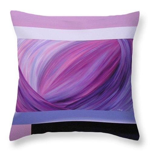 Original Throw Pillow featuring the painting Inside Purple by Melissa Joyfully