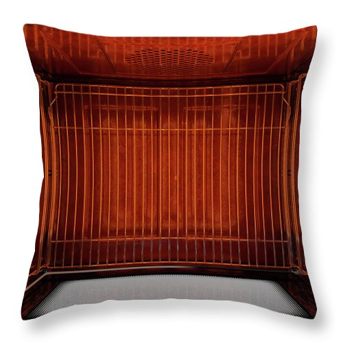 Oven Throw Pillow featuring the digital art Inside The Oven From Above by Allan Swart