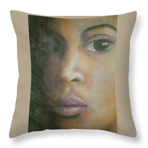 Throw Pillow featuring the drawing Inside The Soul by Jan Gilmore
