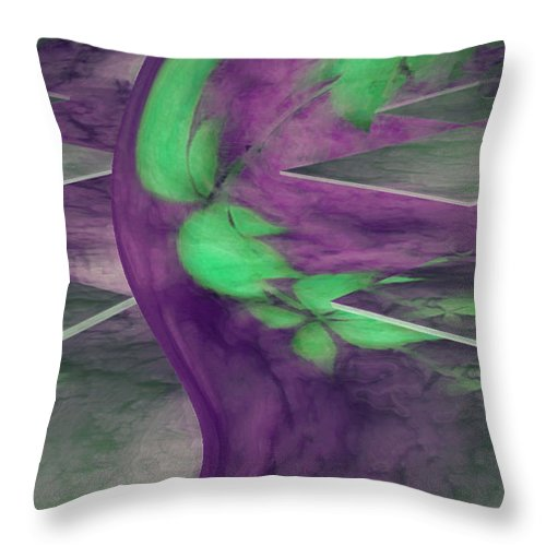Abstracts Throw Pillow featuring the digital art Insight by Linda Sannuti