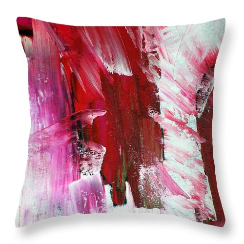Red Throw Pillow featuring the painting Inspiration by Dawn Hough Sebaugh