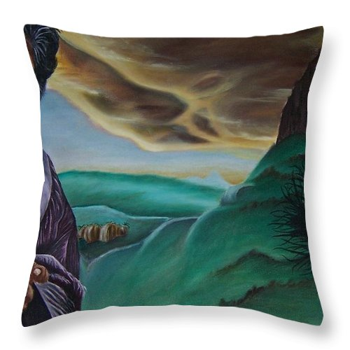 Landscape Throw Pillow featuring the painting Inspiration by Emily Young
