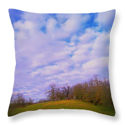 Hill Throw Pillow featuring the photograph Inspiration Hill by Julie Grace