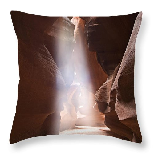 Slot Throw Pillow featuring the photograph Inspiration by Mike Dawson