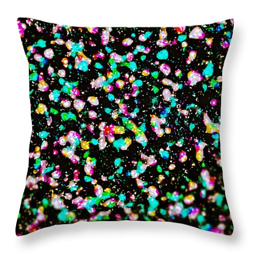 Abstract Throw Pillow featuring the digital art Inspired By Pollock by Michael Knight