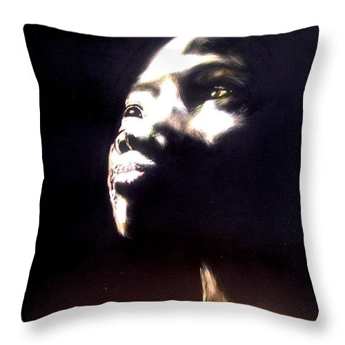 Throw Pillow featuring the mixed media Inspired by Chester Elmore