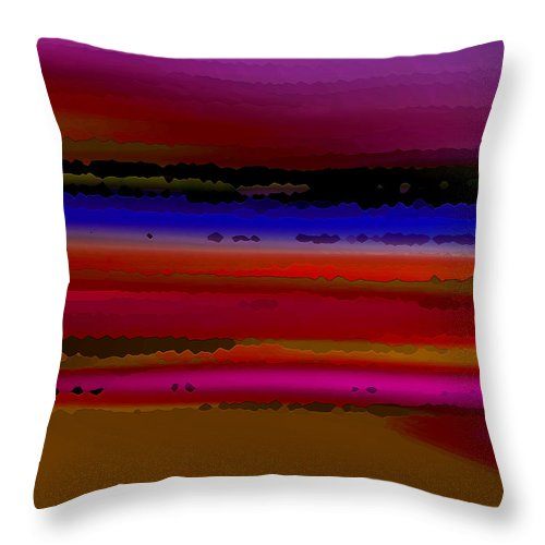 Abstract Throw Pillow featuring the digital art Intensely Hued II by Ruth Palmer