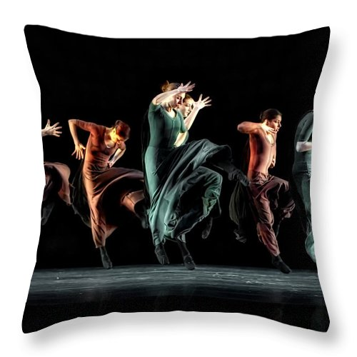 Dance Throw Pillow featuring the photograph Fierce In Color by Jackie Sajewski