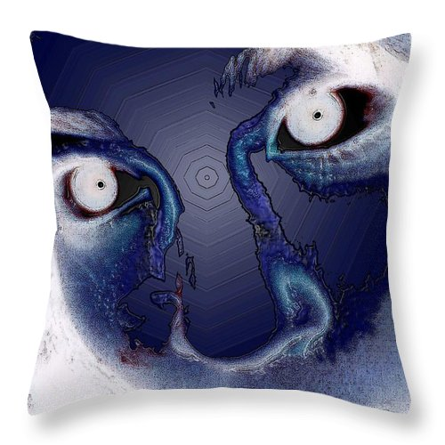 Stare Throw Pillow featuring the photograph Intensity by Mark Sellers