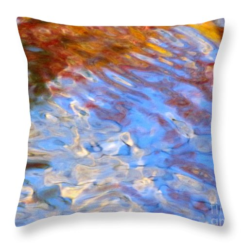 Water Art Throw Pillow featuring the photograph Interception by Sybil Staples