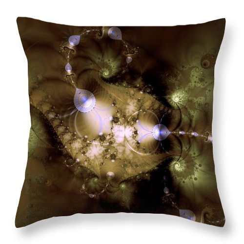 Dimension Throw Pillow featuring the digital art Intergalactica by Casey Kotas