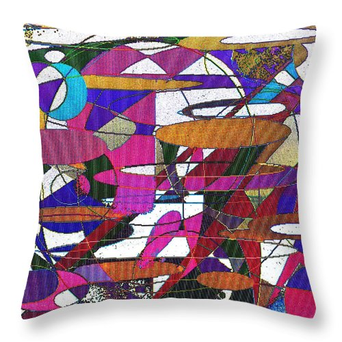 Abstract Throw Pillow featuring the digital art Intergalatic by Ian MacDonald