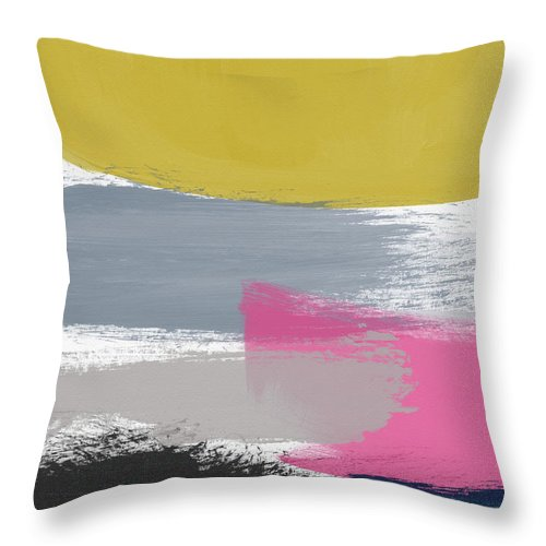 Abstract Throw Pillow featuring the painting Jubilee Mix 2- Abstract Art By Linda Woods by Linda Woods