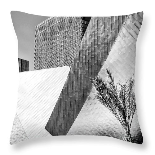 Vegas Throw Pillow featuring the photograph Intersection 1 Bw Las Vegas by William Dey