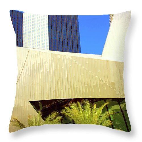 Vegas Throw Pillow featuring the photograph Intersection 2 by William Dey