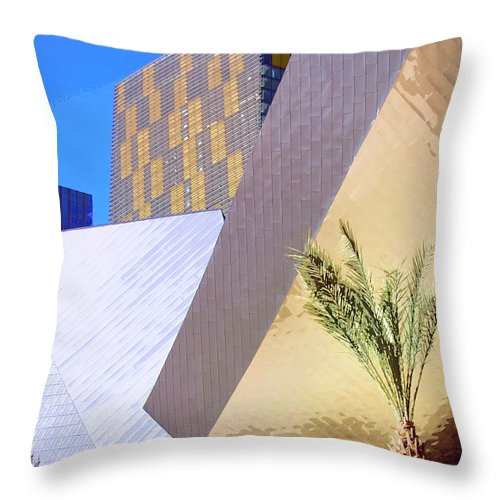 Intersection Throw Pillow featuring the photograph Intersection Number One Las Vegas by William Dey