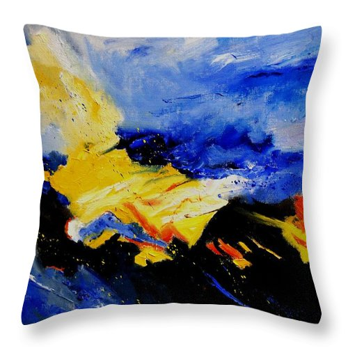 Abstract Throw Pillow featuring the painting Interstellar Overdrive 2 by Pol Ledent