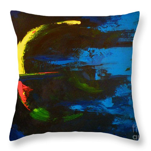 Red Throw Pillow featuring the painting Into Awareness by Patricia Awapara