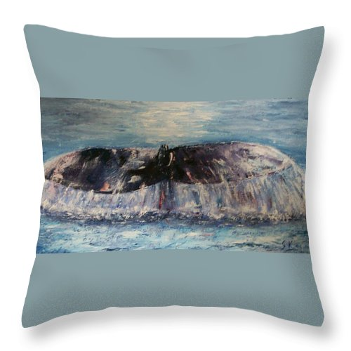 Seascape Throw Pillow featuring the painting Into The Deep by Stephen King