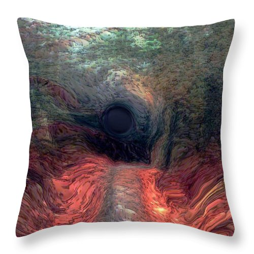 Forest Throw Pillow featuring the photograph Into The Forest by Linda Sannuti