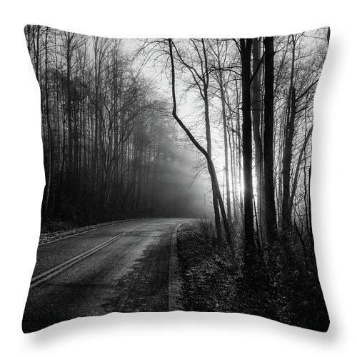 Bw Photography Throw Pillow featuring the photograph Into The Light by Chilehead Photography
