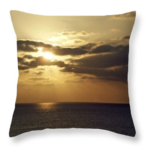 Ocean Throw Pillow featuring the photograph Into The Mystic by Brian Commerford