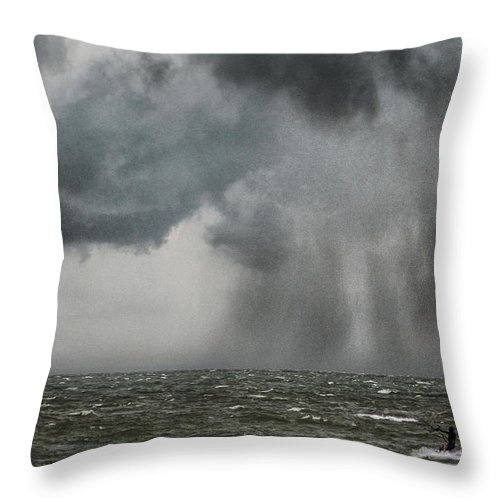Extreme Throw Pillow featuring the photograph Into The Storm by Martin Newman