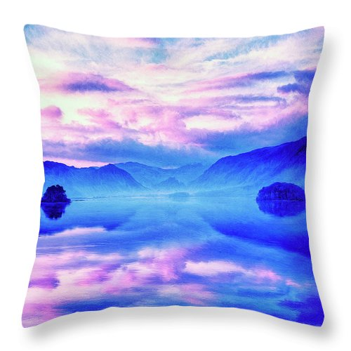 Into The Unknown Throw Pillow featuring the painting Into The Unknown by Dominic Piperata